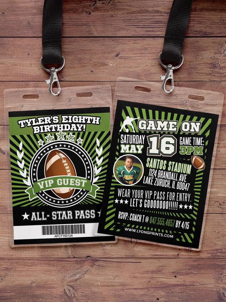 Football ticket Invitation // Super Bowl All Star Birthday // image 0