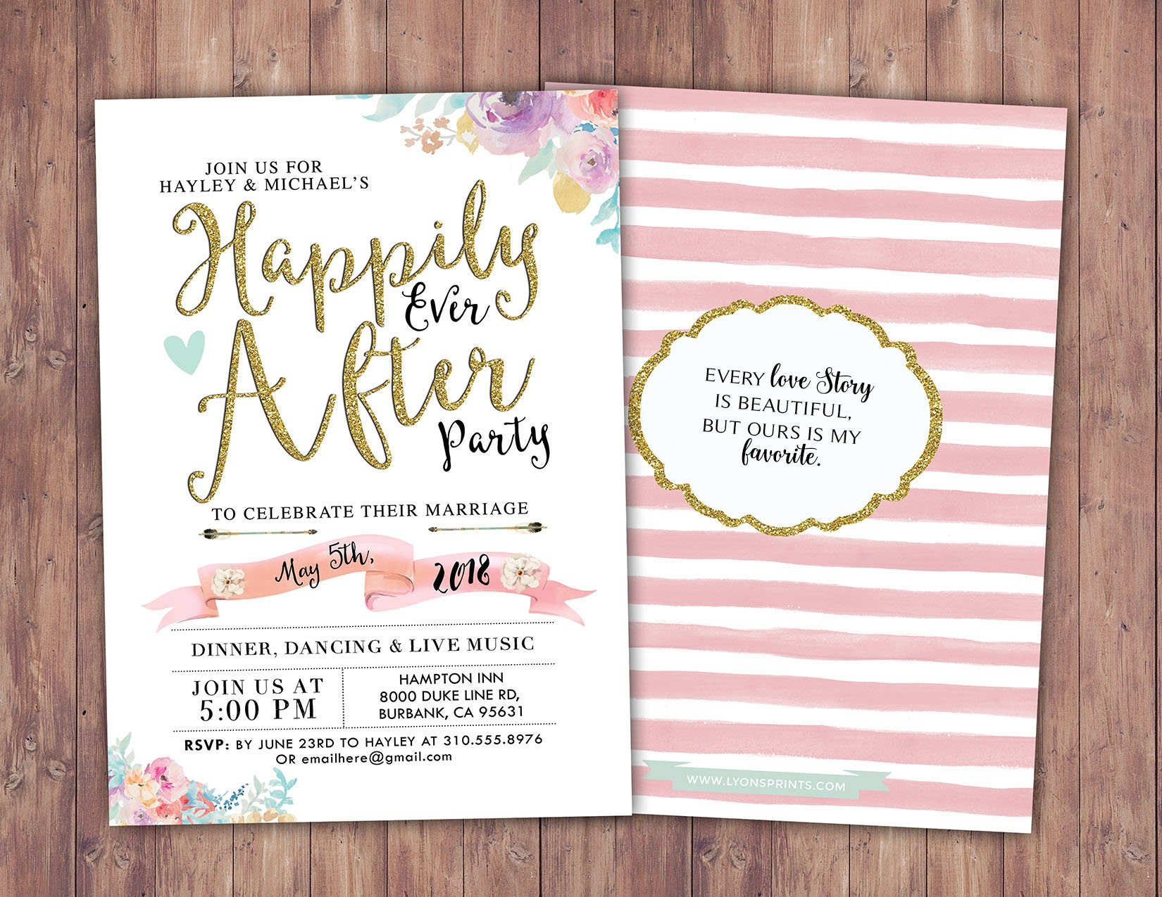Happily ever after invitation, BOHO wedding shower Invitation ...