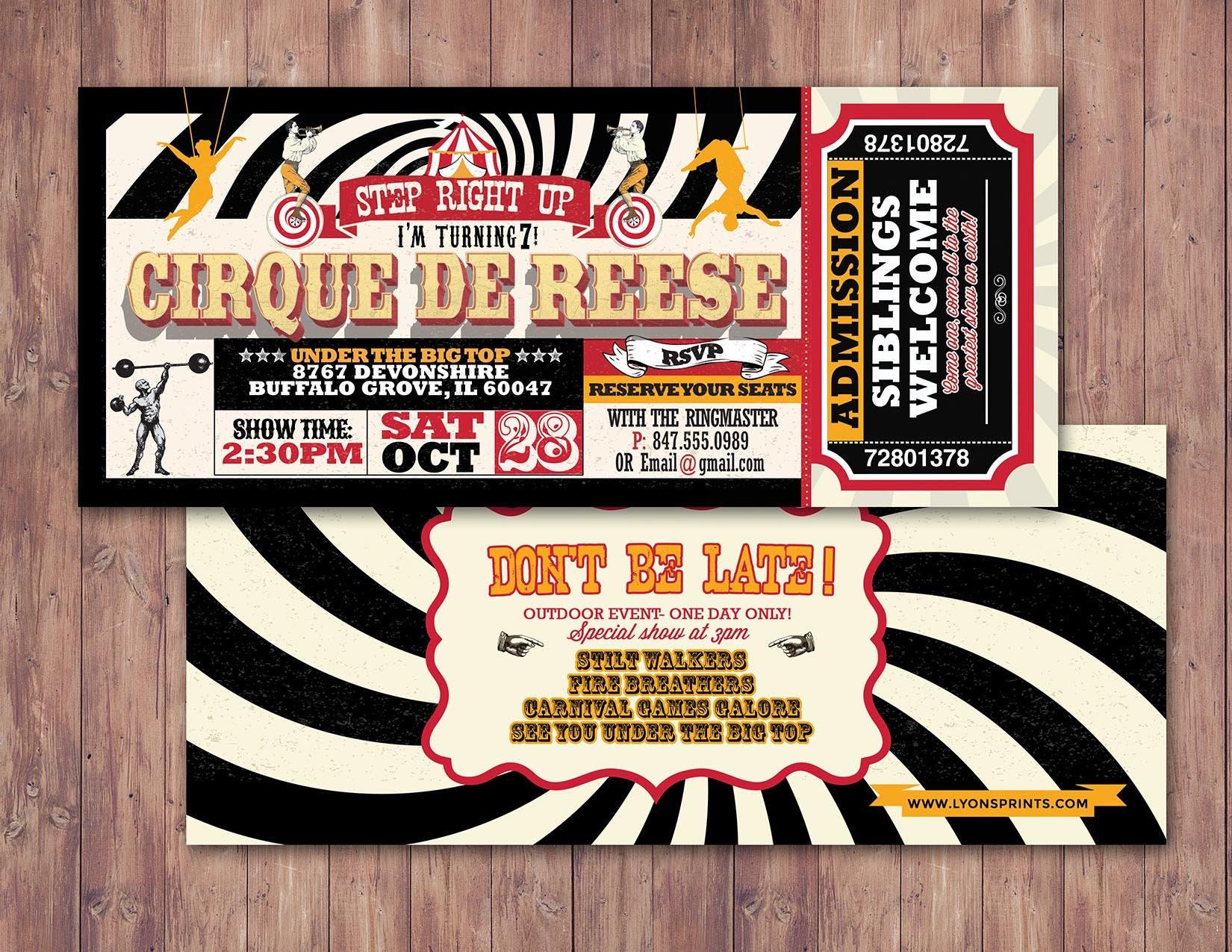 Circus Birthday Invitation First Gallery Photo