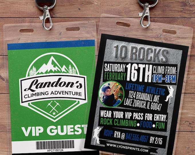 Any age, Rock Climbing Invitations, Indoor Climbing, Rock Climbing Birthday, Adventure party, camping, rock climb, Digital files