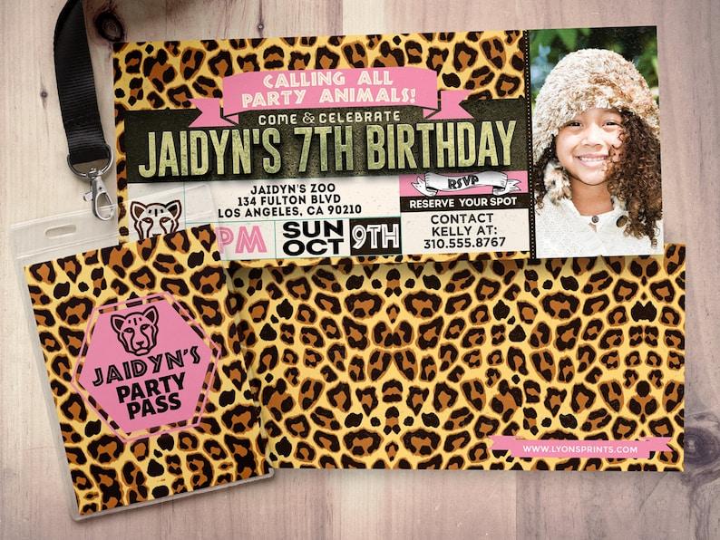 Ticket invitation ZOO birthday invitation baby shower image 0