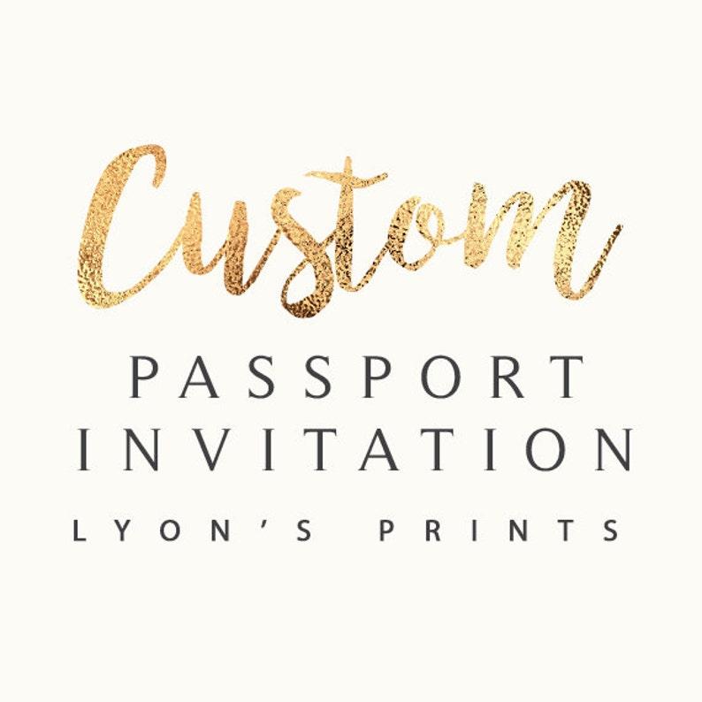 Custom Invitation Design /_ Passport and ticket Invitation /_ PrintableDigital Invitation/_baby shower/_birthday party/_wedding/_ Birthday invite