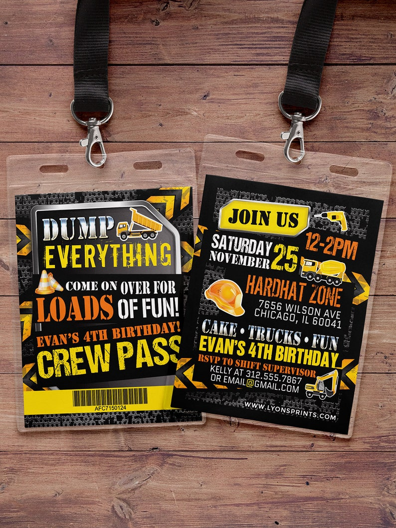 Construction Birthday Invitation Construction Birthday Party image 0