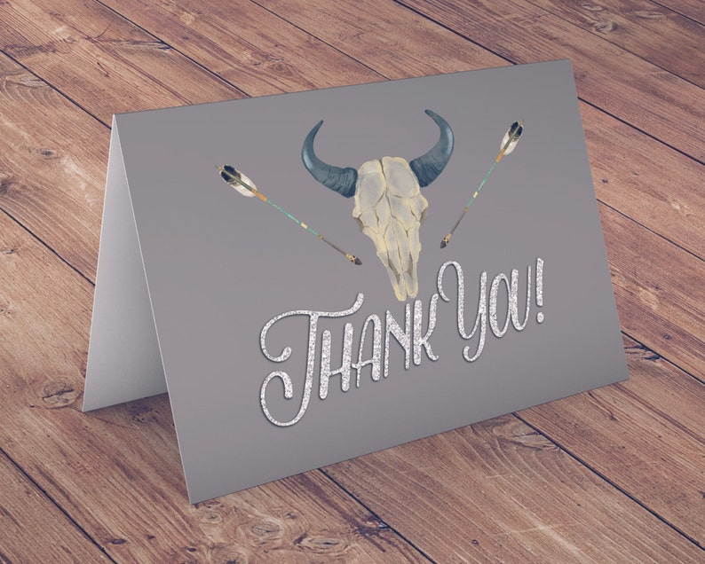 TEEPEE Baby Shower Thank you card arrow baby shower pow image 1