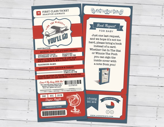 PASSPORT and TICKET baby shower invitation Precious Cargo travel theme vintage airplane Digital files only airplane invite time flies