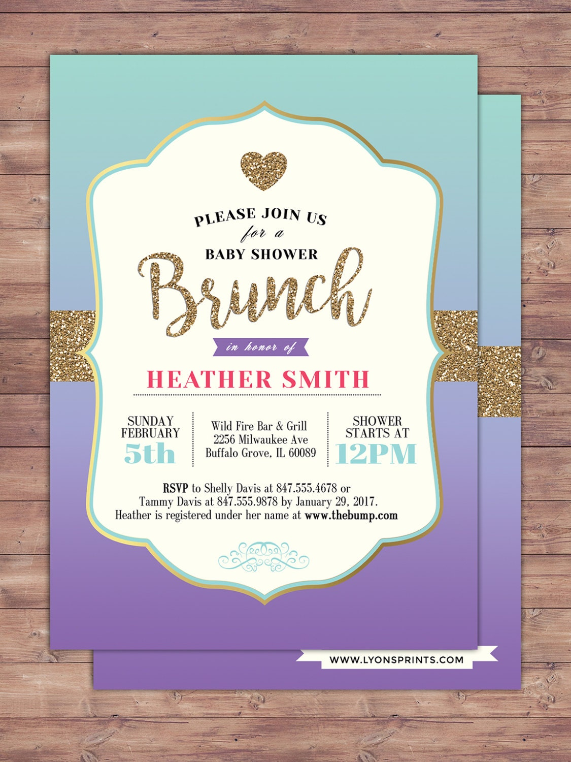 Spade party, invitation, bridal shower invitation, brunch, invite ...