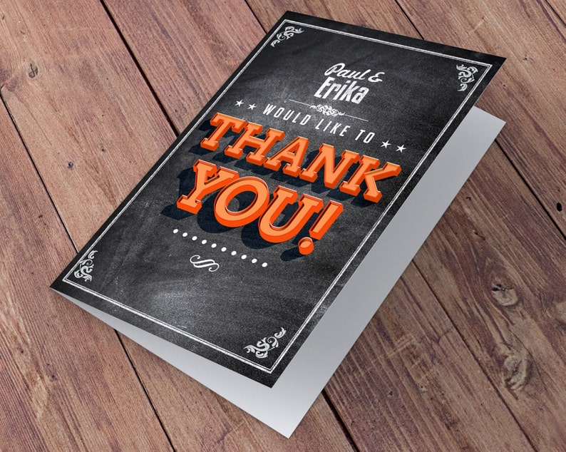 Thank You Card baby shower thank you Birthday Party Thank You Card-wedding thank you Greeting Card All occasion card BEER AND BBQ