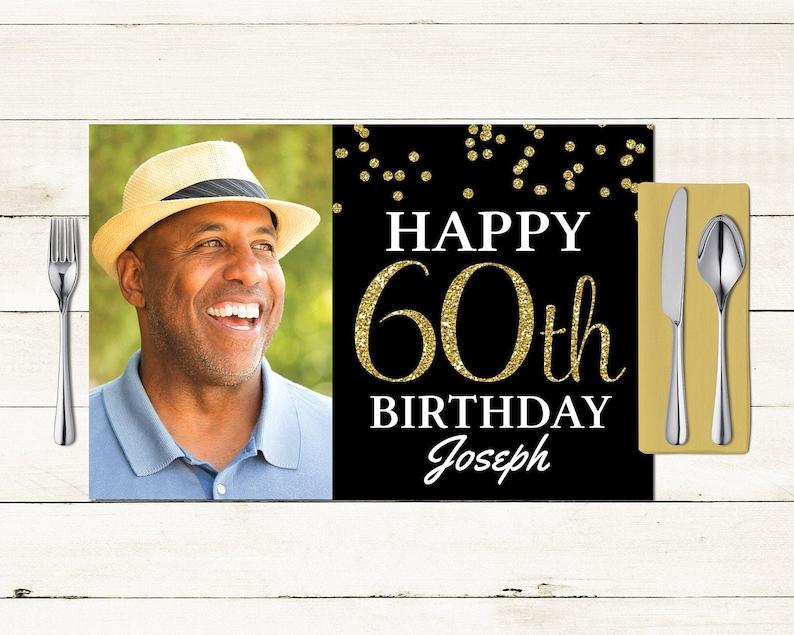 Any Age Birthday digital Placemat design Menu Milestone image 0