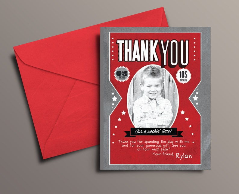 Thank You Card  Greeting Card  All occasion card  rockstar image 1