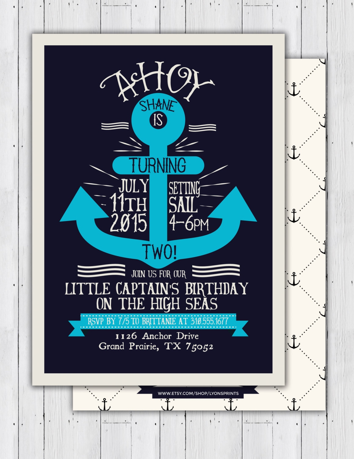nautical birthday invitation ahoy anchor sailboat invitation