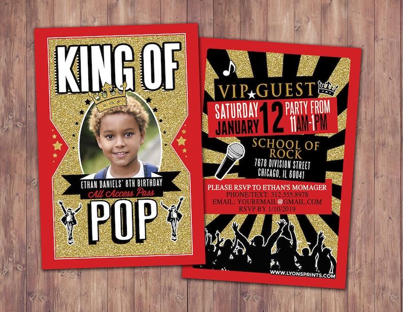 King of pop Queen of pop Hip Hop VIP PASS backstage pass image 0