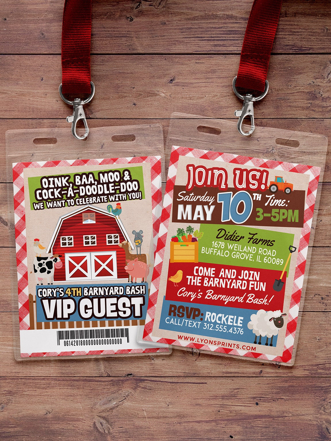 Farm Birthday Invitation, Farm Animals, Old McDonald invite ...