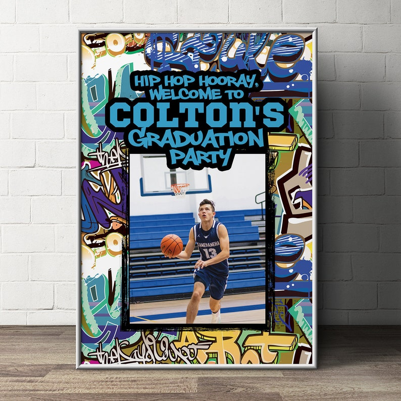 Fresh Prince Baby Shower Hip Hop Graffiti party decor Birthday graduation party 90s 90s theme Welcome sign,Welcome poster