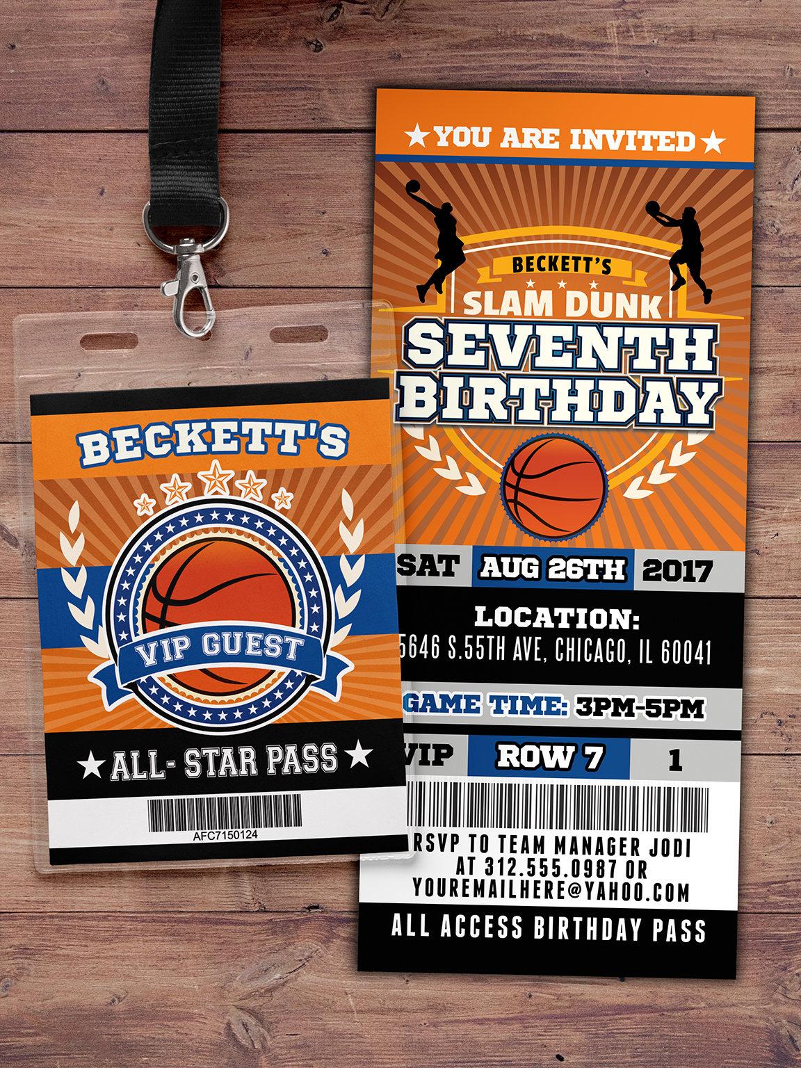 BIRTHDAY Invitation Boy Birthday Sports Athletic Ticket Invite Gallery Photo