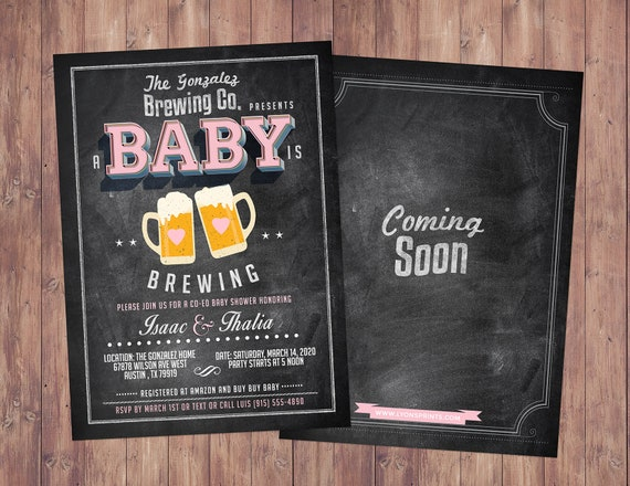Digital files only baby calendar Baby is brewing,birthday predictions- couples baby shower Shower game BBQ