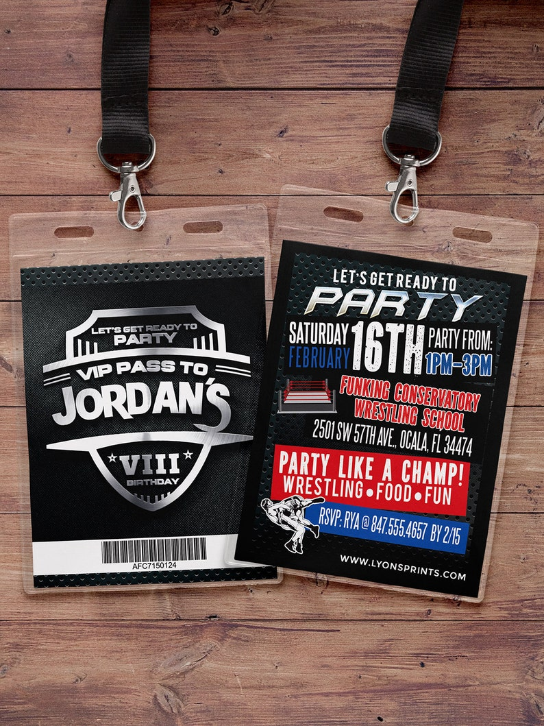 Wrestling invitation wrestle party Ticket Birthday image 0