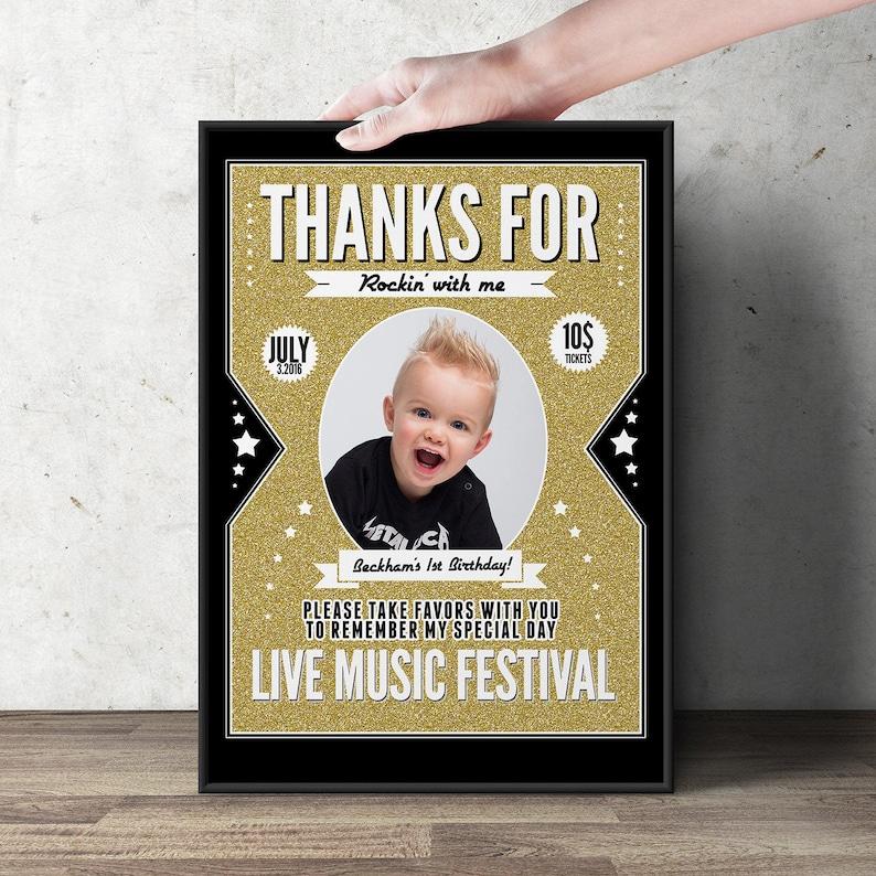 Digital file only  Rock star poster sign rock star poster image 0