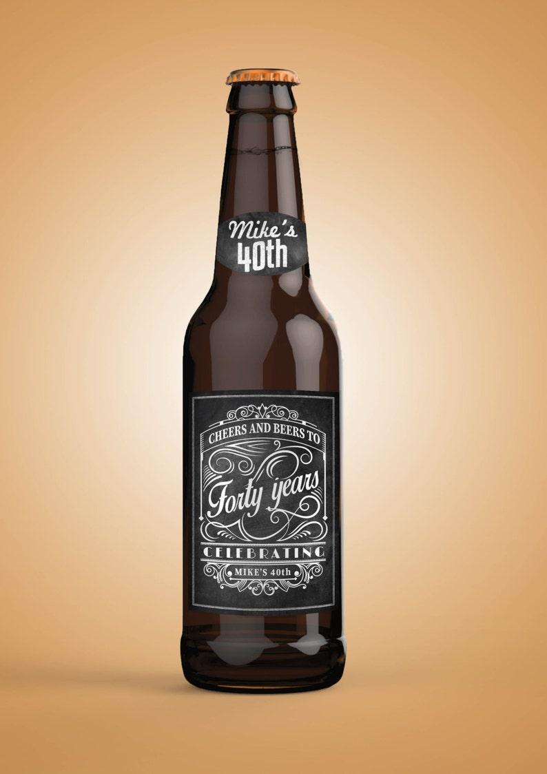 Personalized DIGITAL Beer Labels Cheers and beers birthday SAMPLE PHOTO 1