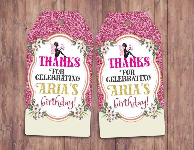 Pixie fairy pixies favor tags Neverland Birthday image 0