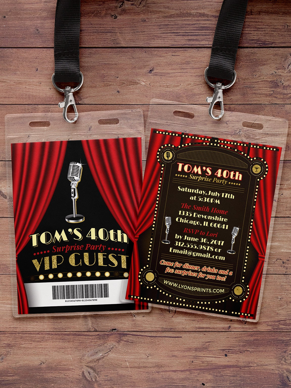 Comedy club VIP invitation, birthday invitation, night out ...