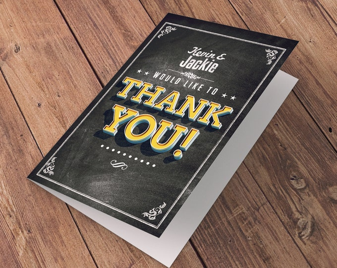Thank You Card - Greeting Card - All occasion card - BEER AND BBQ - baby shower thank you - Birthday Party Thank You Card-wedding thank you