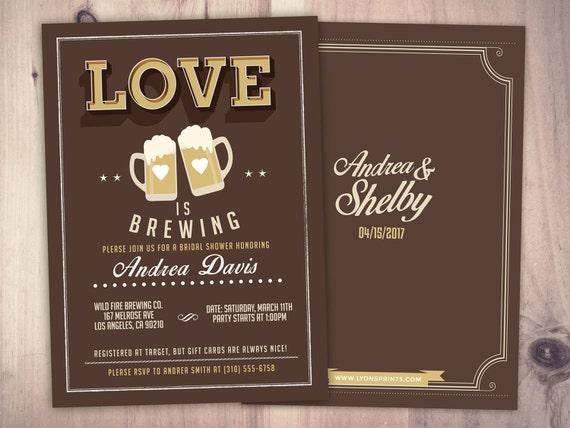 BBQ wedding Coed wedding shower invitation- Beer- couples shower brews before the I do/'s Digital logo file coaster bridal shower