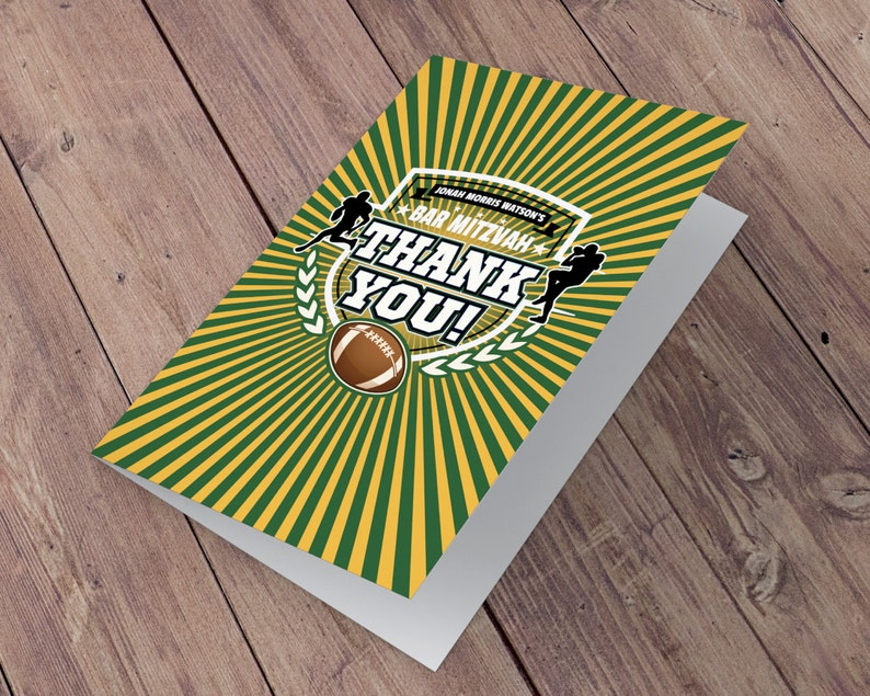 Thank You Card  Football thank you // All Star Birthday // image 0