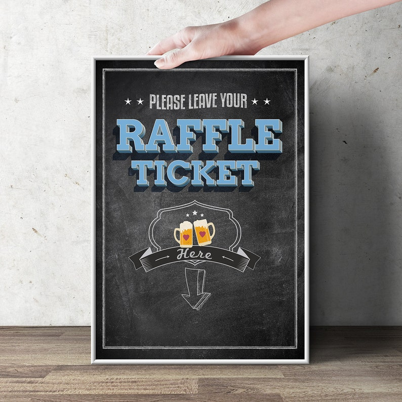 Diaper Raffle Sign BABY IS BREWING Printable File image 1