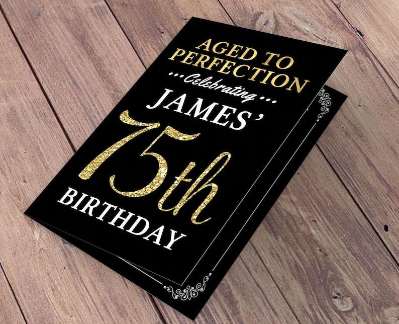 Any Age Birthday digital menu Milestone Birthday Party Decor image 1