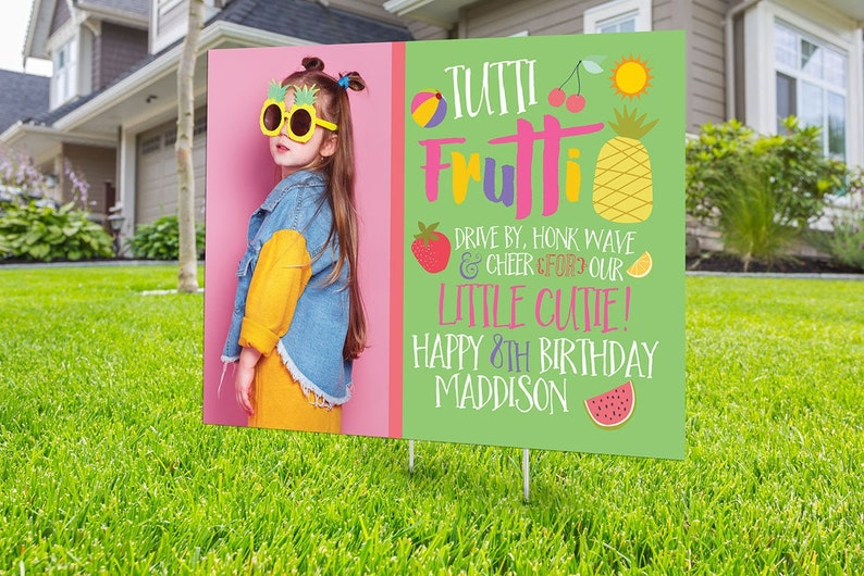 Drive by birthday parade Digital file only yard sign social PHOTO