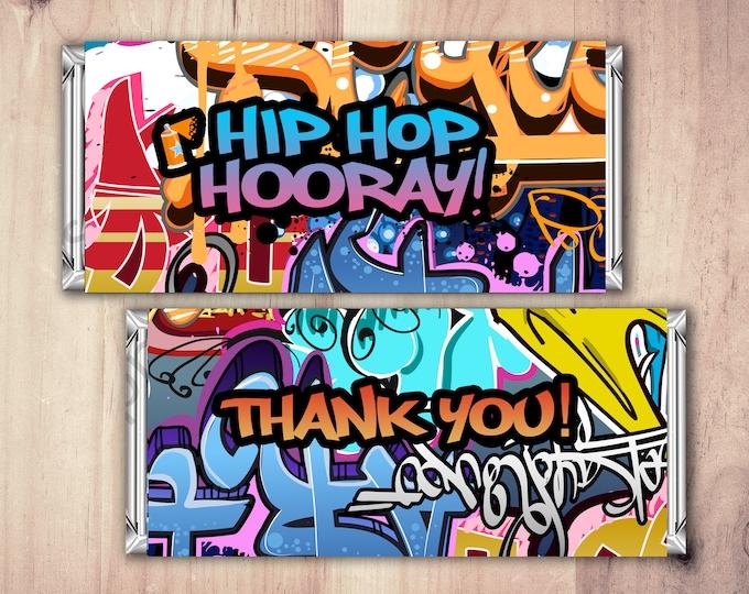 Fresh Prince, Birthday, Baby Shower, Hip Hop, candy wrapper, 90's, graffiti, invitation, birthday, DJ, 90's party, Hip Hop