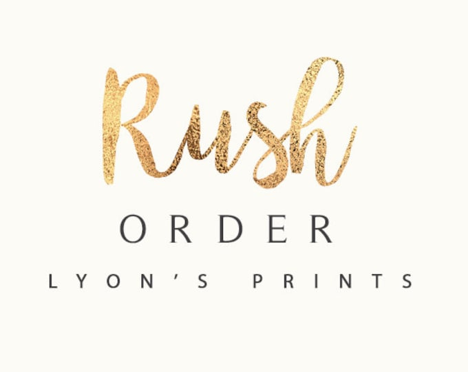 EMAIL RUSH ORDER _ Printable/Digital file _ Same Day Turn Around Guaranteed on non-custom orders