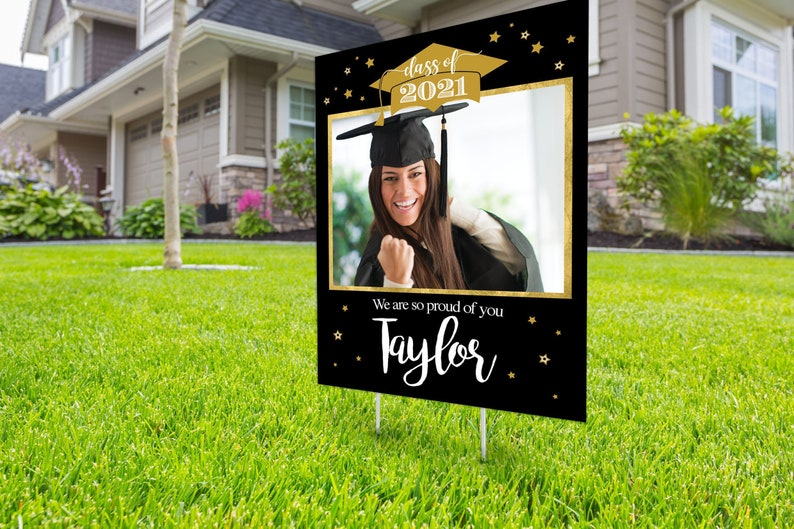 Class of 2021 Graduation Digital file only Photo Yard Sign SAMPLE PHOTO 1