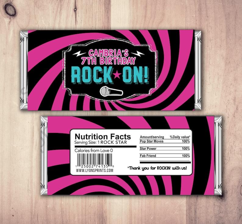 Rock Star wrapper Pop Star Wrapper  Printable Hershey's SAMPLE PHOTO 1