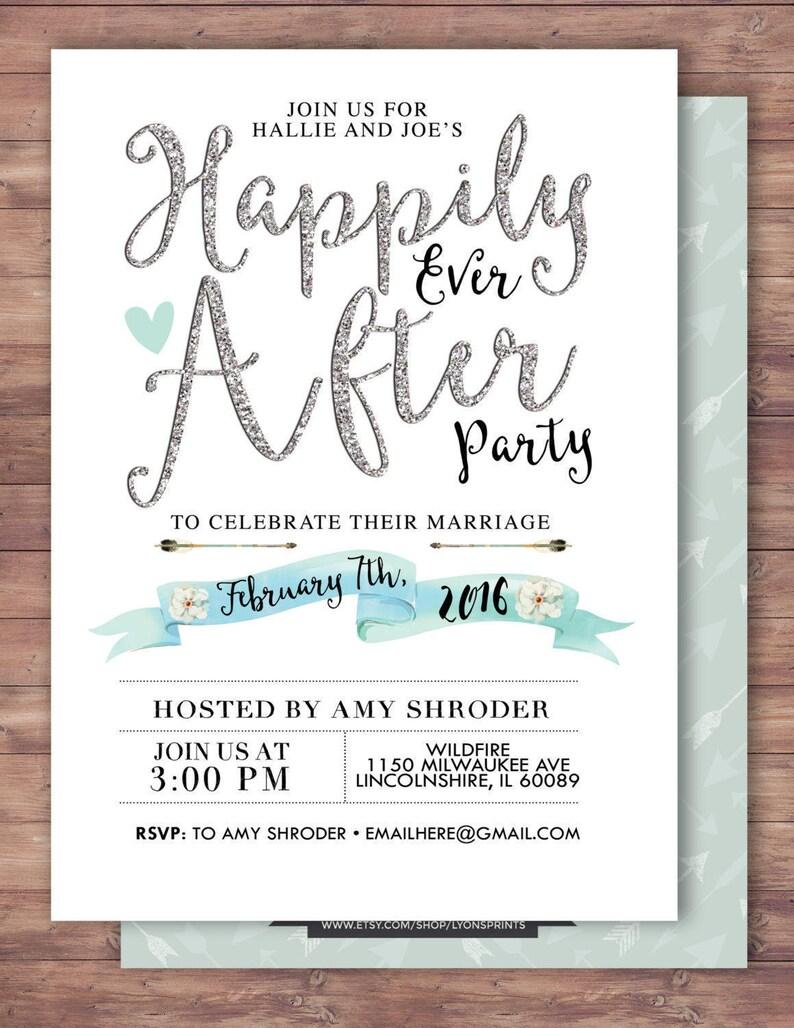 Happily ever after invitation BOHO wedding shower Invitation SAMPLE PHOTO 1