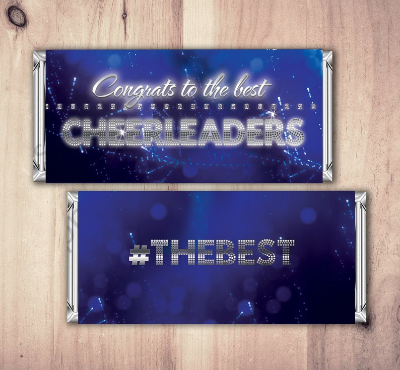 Personalized Cheerleading Candy Bar Wrapper  Printable SAMPLE PHOTO 1