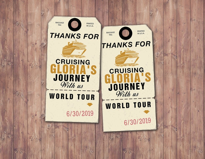 Luggage tag favor tag birthday travel party favor travel image 0