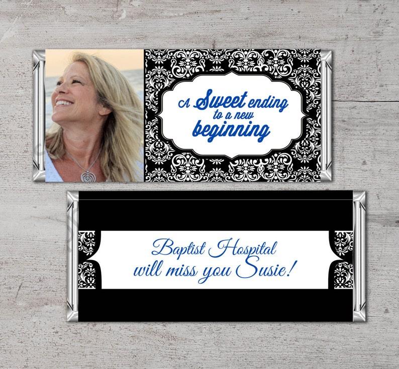 Retirement Candy Bar Wrapper Printable Digital FileCandy image 0