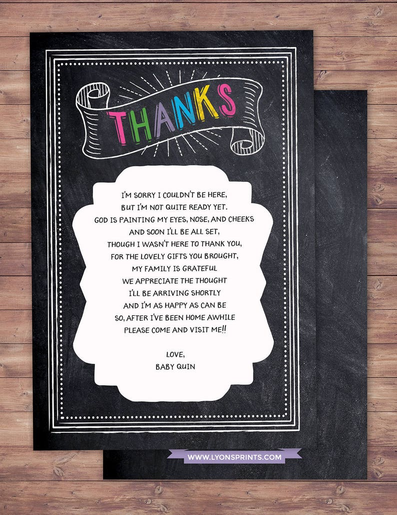Thank you Tacos and Tutus chalkboard couples co-ed Baby image 1