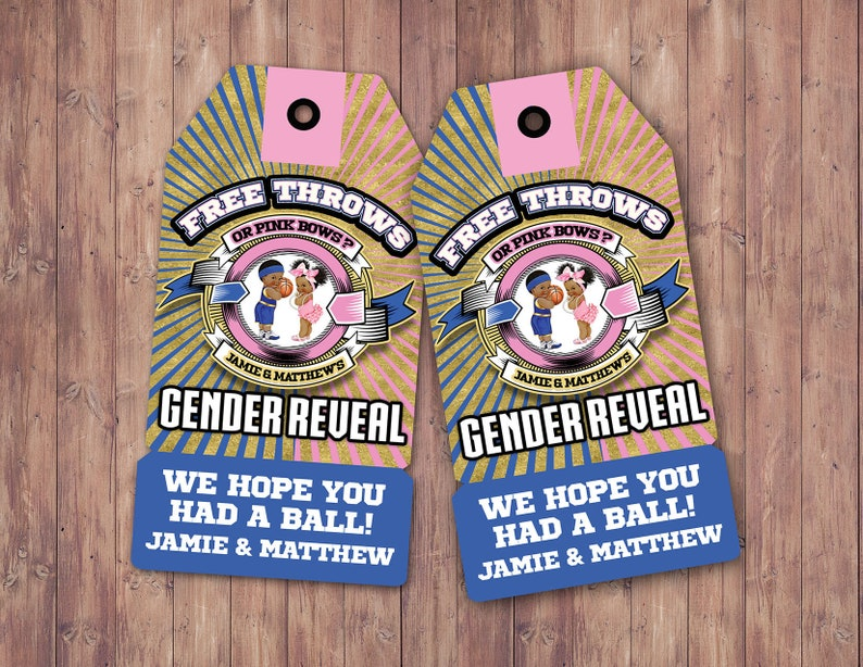 Free Throws or Pink Bows favor tags. boxing tags PRINTABLE. image 0