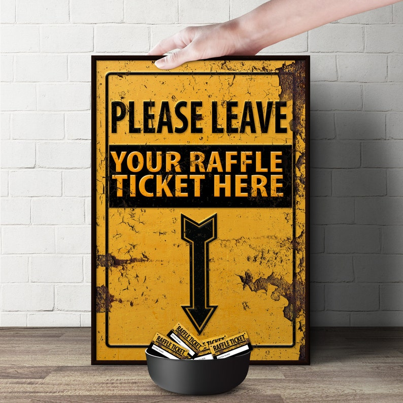 Diaper Raffle Sign CONSTRUCTION Printable File image 0