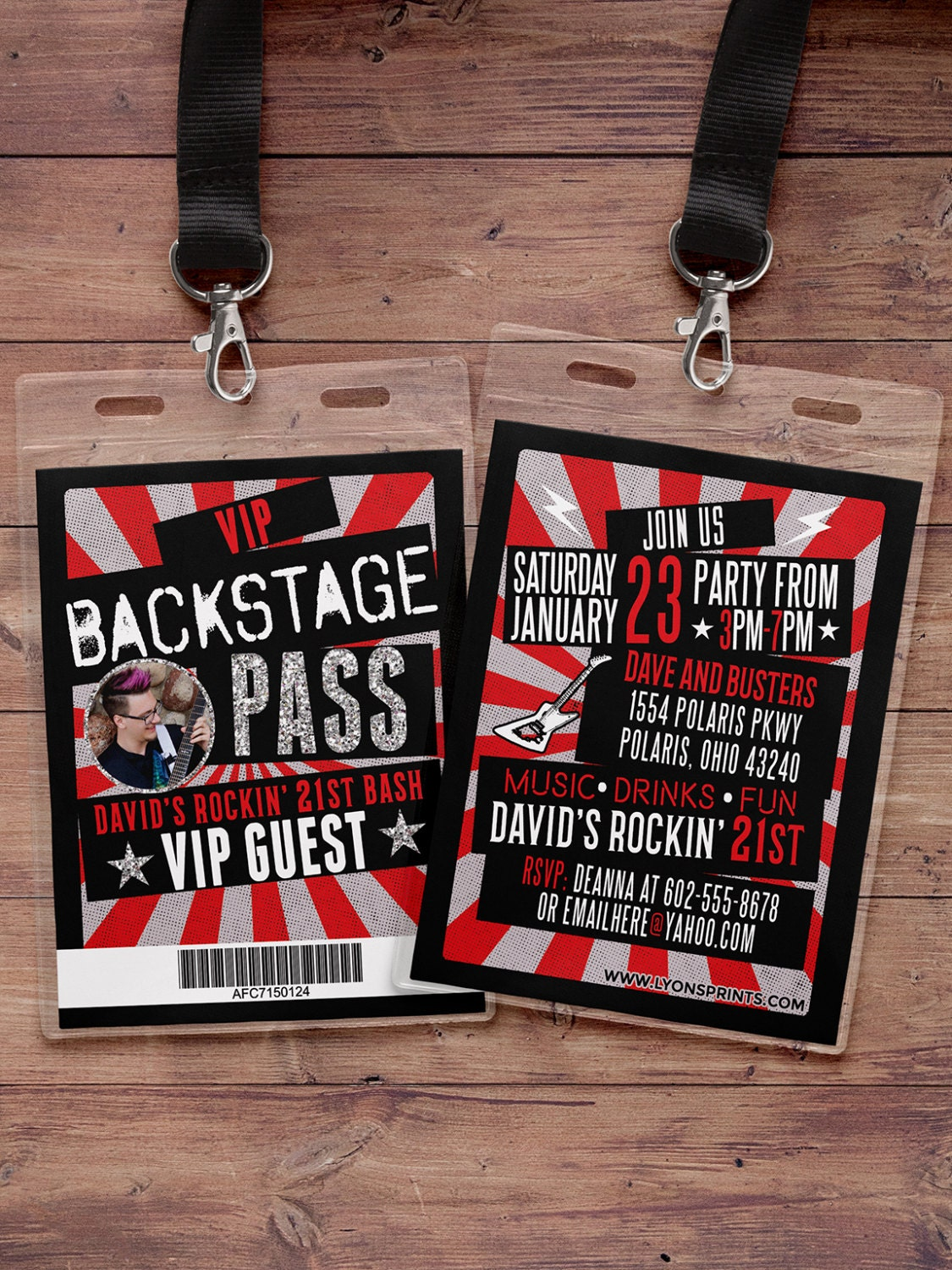 Vip pass backstage pass concert ticket birthday invitation 40th vip pass backstage pass concert ticket birthday invitation 40th 30th 21st 50th party favor lanyard rock star filmwisefo