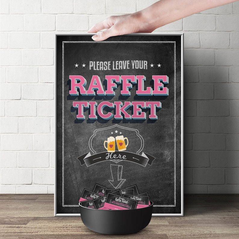 Diaper Raffle Sign BABY IS BREWING Printable File image 0