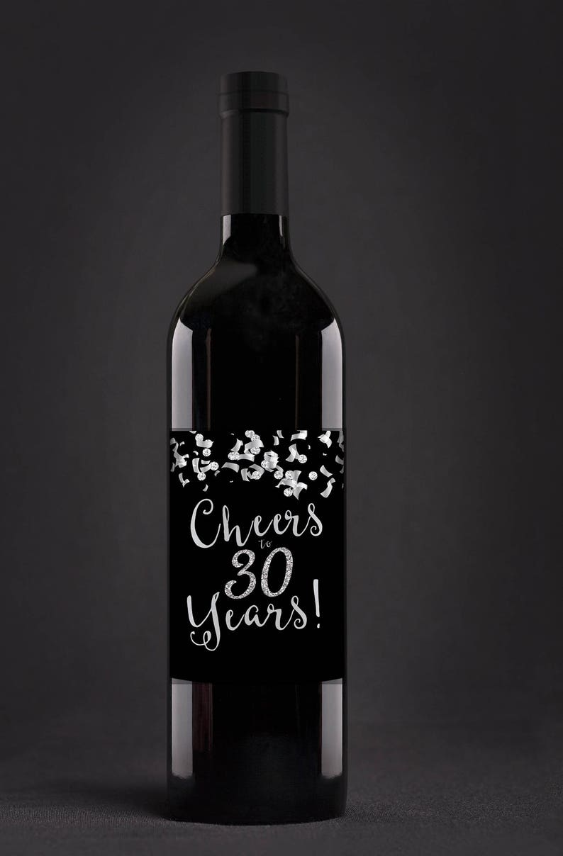 Digital Wine label Cheers 21st 30th 40th 50th 60th image 0