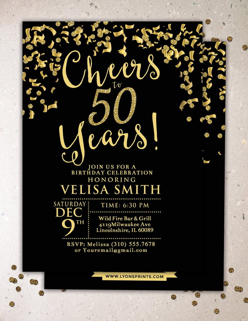 ANY AGE Cheers invitation 21st 30th 40th 50th 60th image 0
