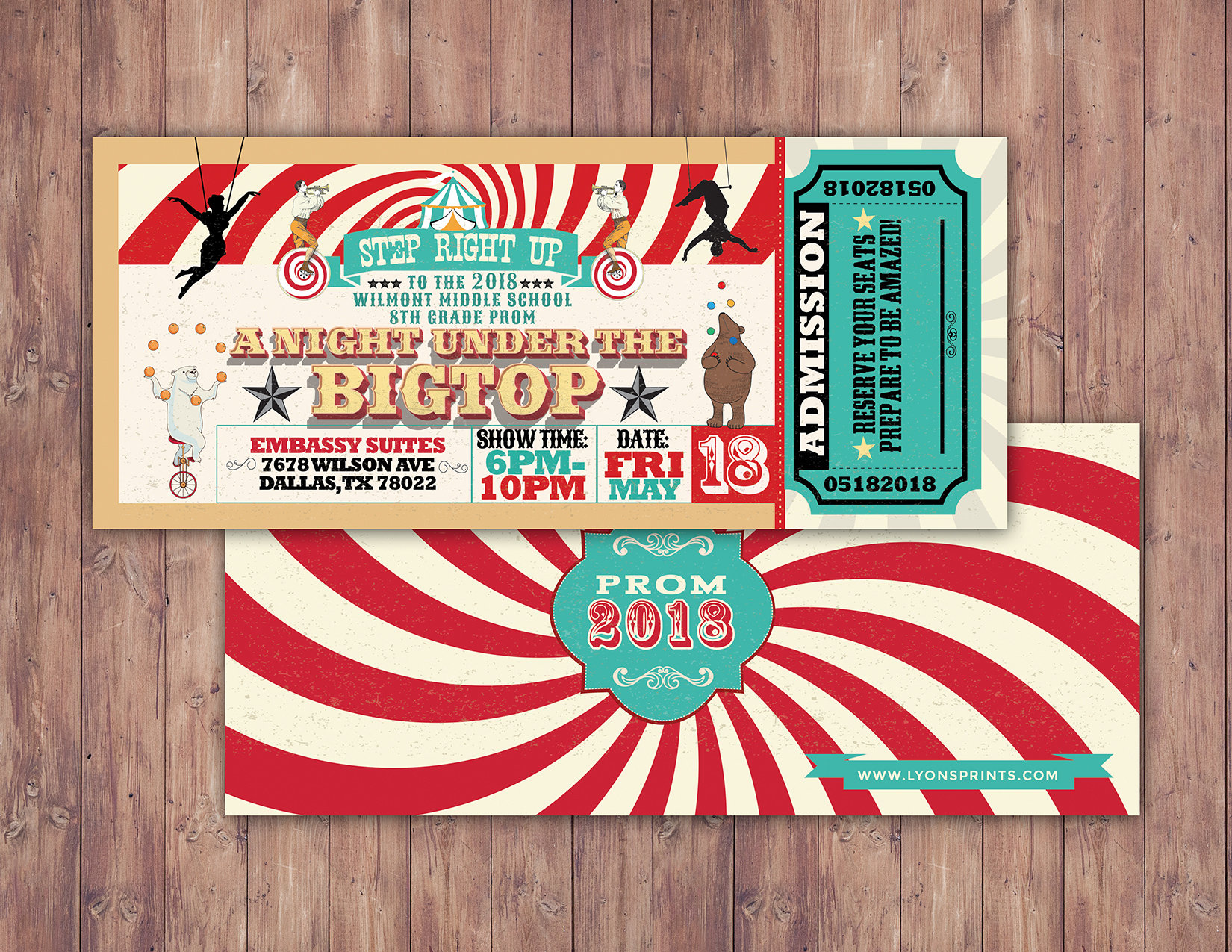 CIRCUS party prom Invitation Carnival invitation-prom | Etsy