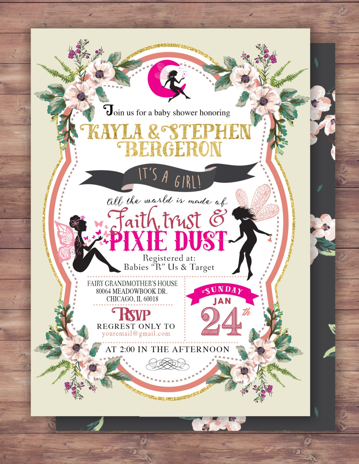 Fairy baby shower invitation neverland invitation watercolor fairy baby shower invitation neverland invitation watercolor floral baby shower vintage floral background pixie boho invite filmwisefo