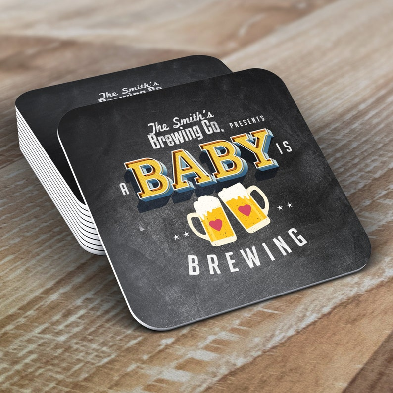 Digital logo file  Baby is brewing Coed baby shower image 0