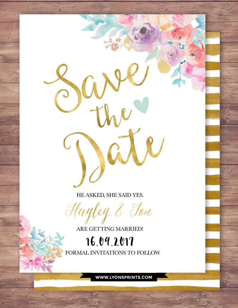 Save the date BOHO wedding shower Invitation couples shower image 1
