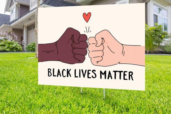 Love thy neighbor Black lives matter yard sign design No Hate sign Digital file only Black rights human rights Black lives matter,LGBT